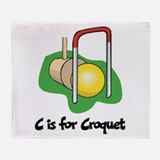 C is for Croquet Throw Blanket