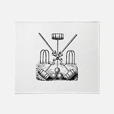Hand Sketched Croquet Throw Blanket
