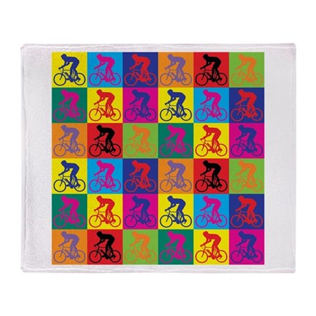 Pop Art Cycling Throw Blanket