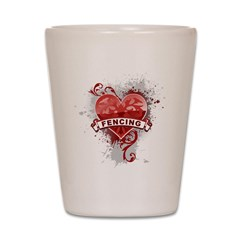 Heart Fencing Shot Glass