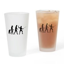 Fencing Evolution Drinking Glass