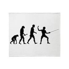 Fencing Evolution Throw Blanket