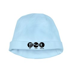 Eat Sleep Fencing baby hat