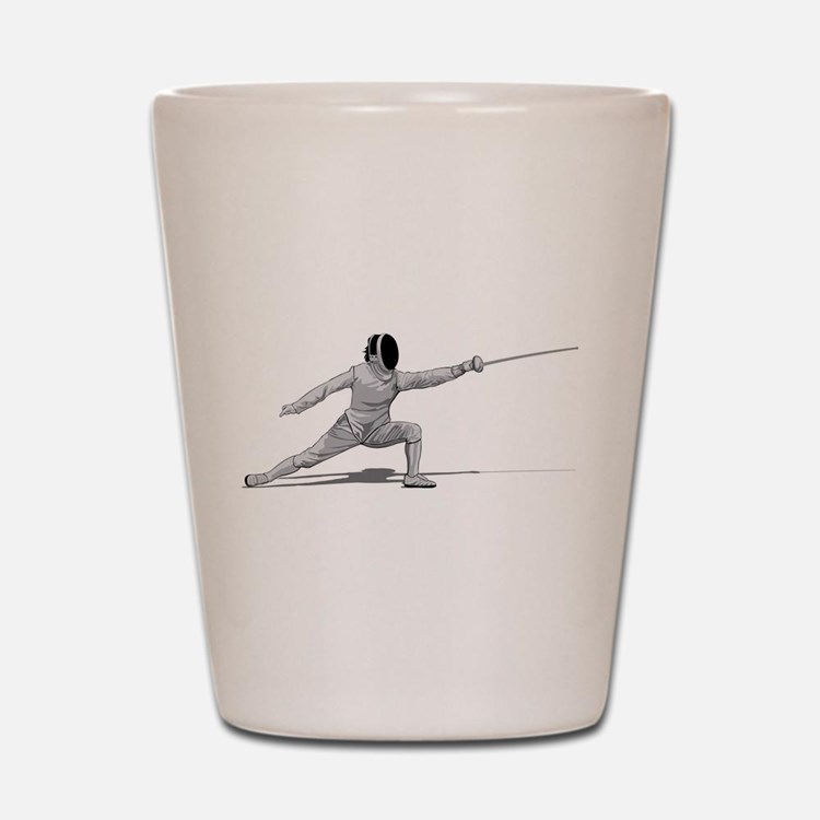 Fencing Shot Glass