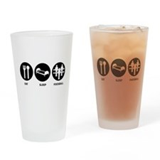 Eat Sleep Foosball Pint Glass