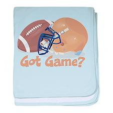 Football Got Game? baby blanket