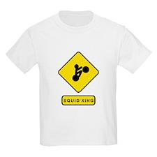 Squid Crossing Kids T-Shirt