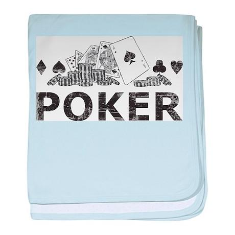Vintage Poker baby blanket