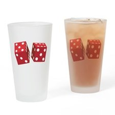 Retro Red Dice Pint Glass