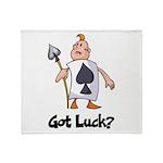 Ace Of Spade (Got Luck?) Throw Blanket