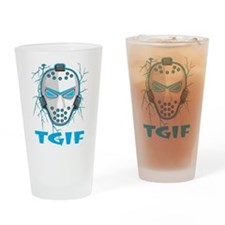 TGIF Hockey Pint Glass