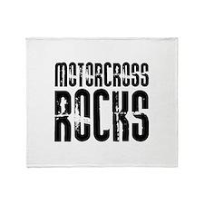 Motorcross Rocks Throw Blanket