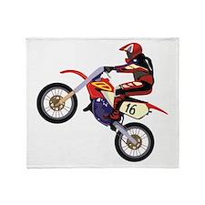 Motorcross Throw Blanket