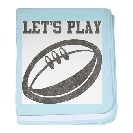 Let's Play Rugby baby blanket