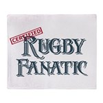 Rugby Fanatic Throw Blanket