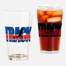 Track & Field Pint Glass