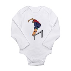 Skateboarding Stunt Long Sleeve Infant Bodysuit