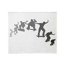 Skateboarding Throw Blanket