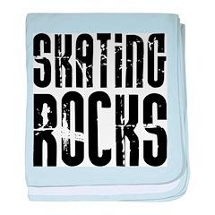 Skating Rocks baby blanket