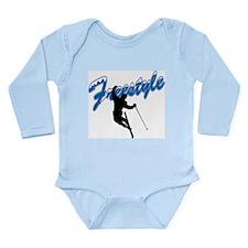 Freestyle Skiing Long Sleeve Infant Bodysuit