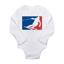 Skiing Long Sleeve Infant Bodysuit