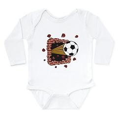 Soccer Long Sleeve Infant Bodysuit