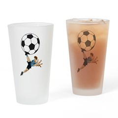 Soccer Pint Glass