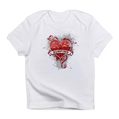 Heart Surfing Infant T-Shirt