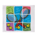 Tennis Puzzle Throw Blanket