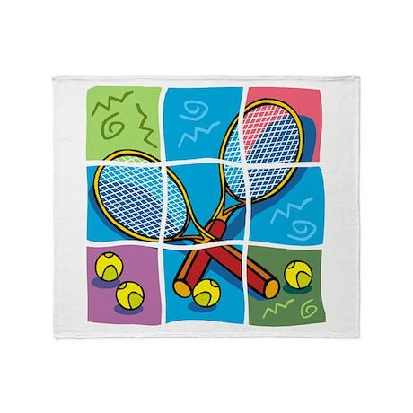 Tennis Puzzle Throw Blanket