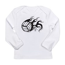 Flaming Volleyball Long Sleeve Infant T-Shirt