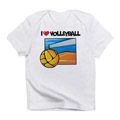 I Love Volleyball Infant T-Shirt
