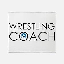Wrestling Coach Throw Blanket
