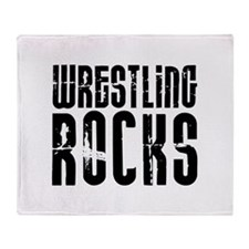 Wrestling Rocks! Throw Blanket