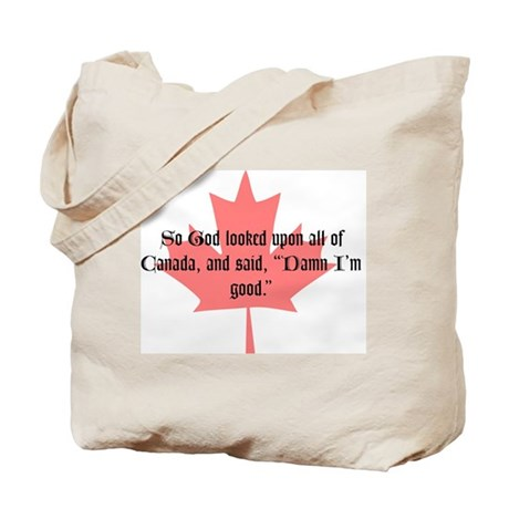 So God looked upon all of Can Tote Bag