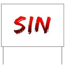 Sin Yard Sign