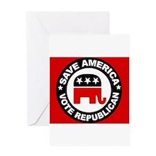 SAVE AMERICA Greeting Card