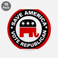 """SAVE AMERICA 3.5"""" Button (10 pack)"""