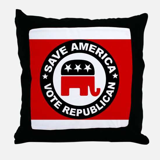 SAVE AMERICA Throw Pillow
