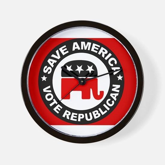 SAVE AMERICA Wall Clock