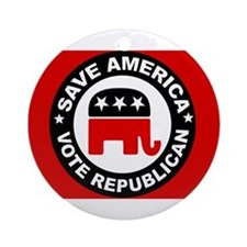 SAVE AMERICA Ornament (Round)