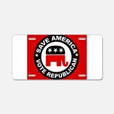 SAVE AMERICA Aluminum License Plate