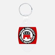 SAVE AMERICA Keychains