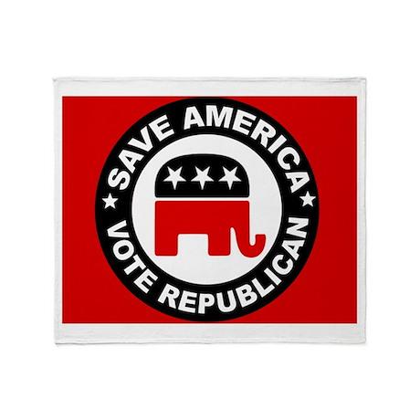 SAVE AMERICA Throw Blanket