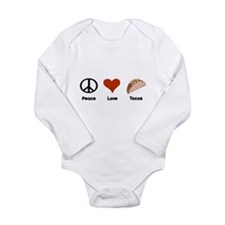 Peace Love Tacos Long Sleeve Infant Bodysuit