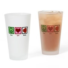 Peace Love Boxing Drinking Glass