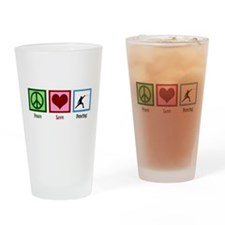 Peace Love Fencing Drinking Glass