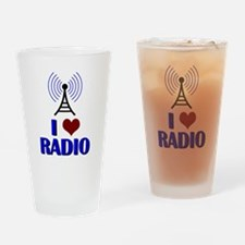 I Love Radio Drinking Glass
