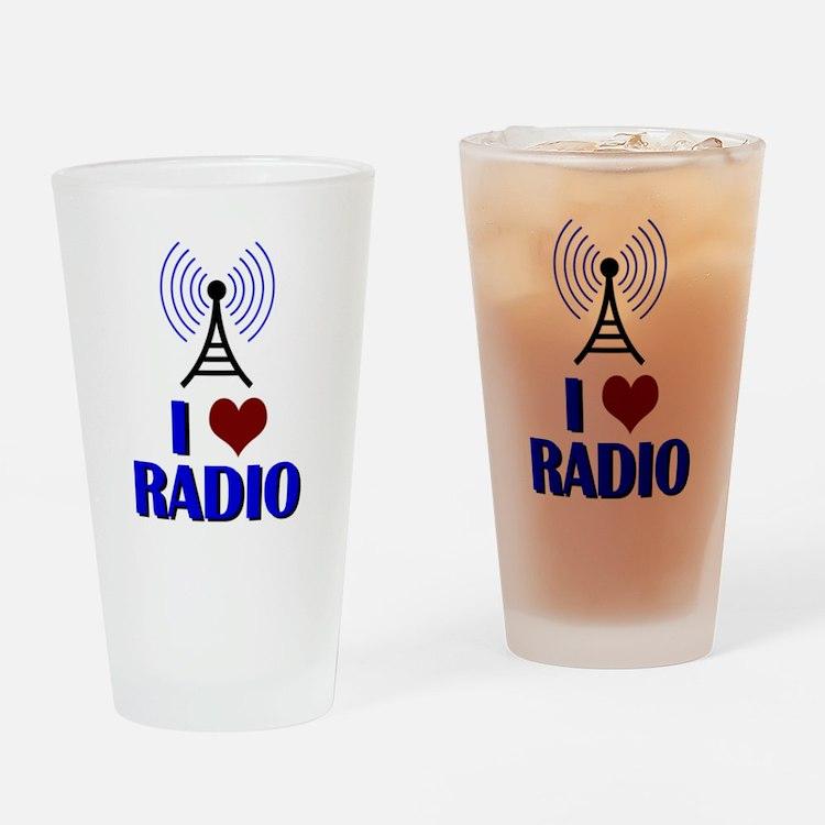 I Love Radio Drinking Glass