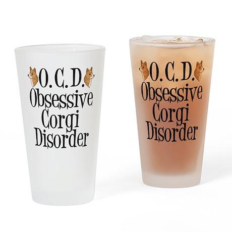 Corgi Obsessed Drinking Glass